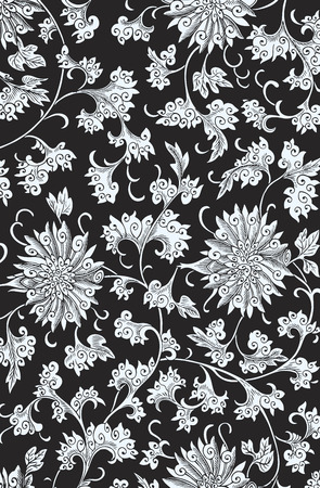 vectorized: Vectorized traditional Chinese floral ornament