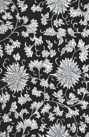 Vektorisiert traditionellen chinesischen Blumenverzierung Vektorgrafik