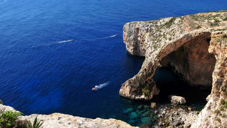 Blue Grotto and blue sea