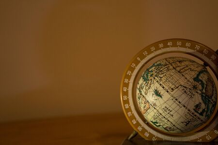 medium globe on wood