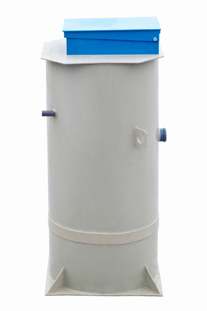 Autonomous sewage system on white background - European septic tank 230L model