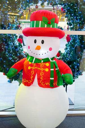Big white snowman doll Stock Photo