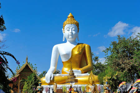 Big buddha at Wat Phra That Doi Kham Chiangmai Thailand