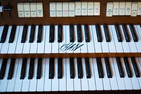 Close up of piano keys Stock Photo
