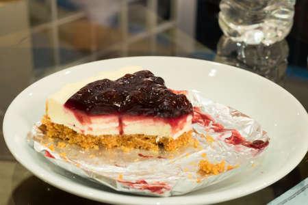 Blueberry cheese pie Stock Photo