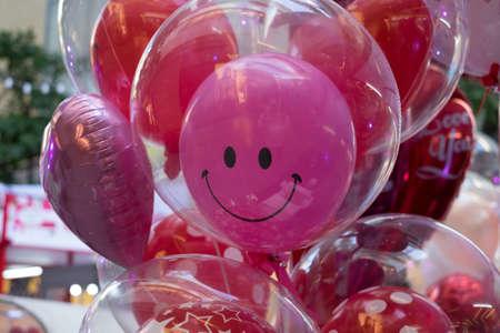 A smiling balloon