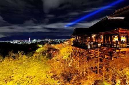 Kiyomezudera shrine in Kyoto Japan