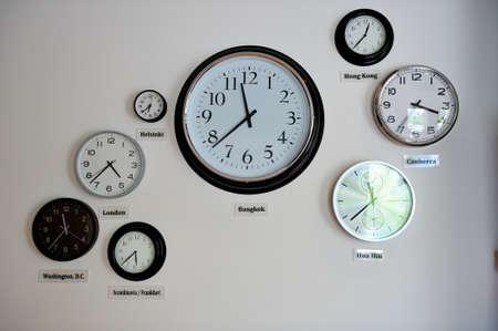 time zone: World time zone clocks