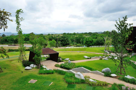 Landscape garden view Stock Photo