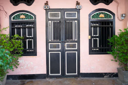 Old Chinese door at Phuket