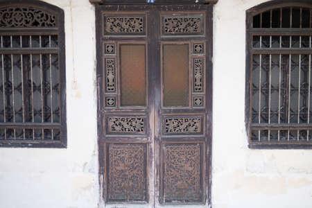 Old Chinese vintage door at Phuket