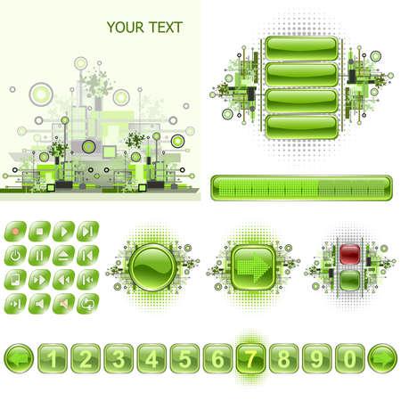 scrollbar: Set of different elements for your web design Illustration