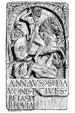 horseman: Jinete alem�n en el ej�rcito romano Vectores