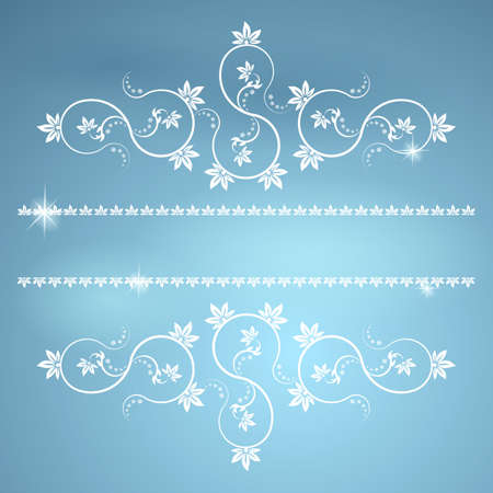 ex: Frame with monograms for design and decorate  Illustration