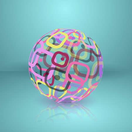globe logo: Abstract globe sphere. Conceptual Technology Logo Illustration
