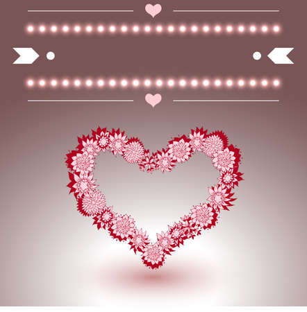 ore: Wedding ore Valentines Greeting Card. Vector illustration