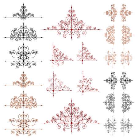 Set van pagina decoratie-elementen en monogrammen voor ontwerp.