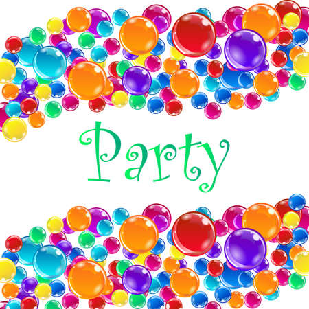Party balloons with confetti. Illustration
