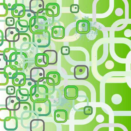 ameba: Bio cells as squares. Concept illustration. Seamless abstract pattern. Vector EPS10 illustration. Illustration
