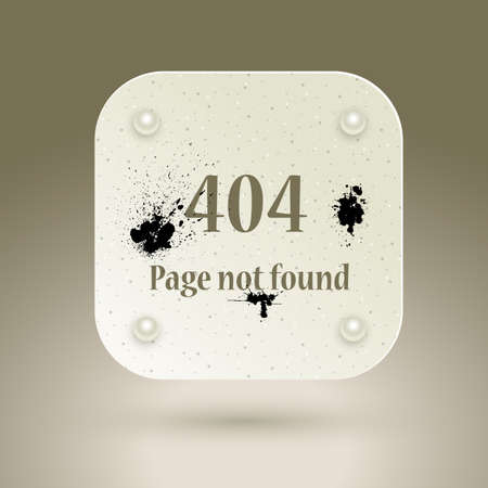 file not found: 404 Error file not found on website page. Vector illustration.
