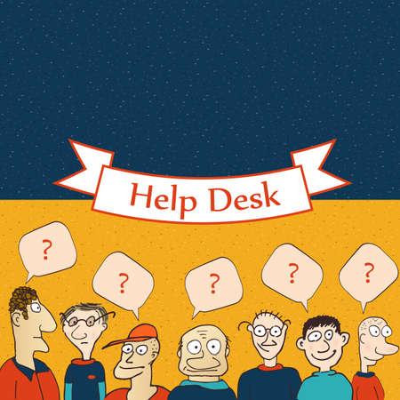 computer operator: Help desk board