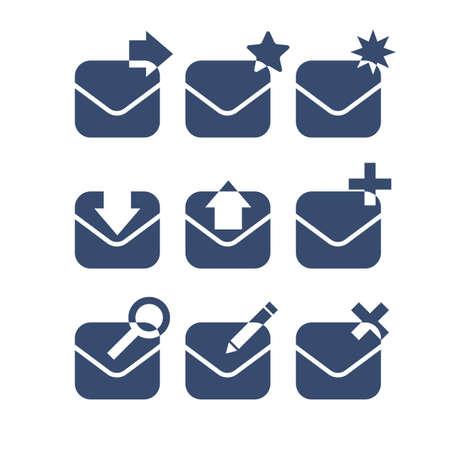favourite: Mail icon set