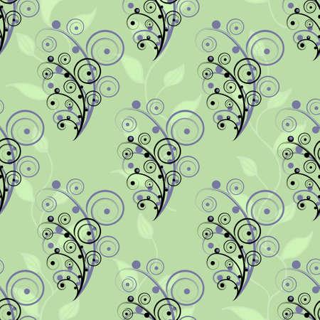swirl: Abstract seamless flower elements Illustration