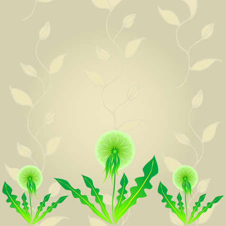 paintings: Abstract Dandelion Background Vector Illustration. Illustration