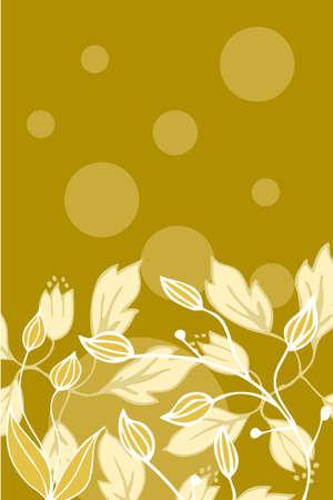 swirl: Floral back design Illustration