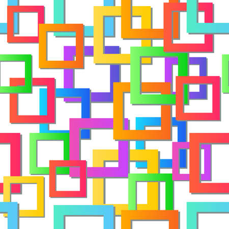 Modern colorful mosaic background. Vector seamless texture. Abstract geometric pattern. Illustration