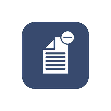 -Delete document- icon. Flat design isolated on plain background.