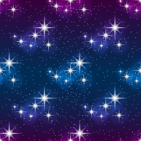 Night sky with stars, seamless pattern. Modern style for wallpaper, wrapping, fabric, background, apparel, other print production.