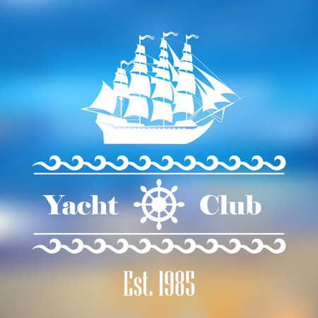 Sailboat logo for yacht club or marina  イラスト・ベクター素材