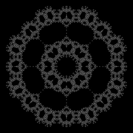 Beautiful ornamental rosette. For ethnic or tattoo design. Illustration