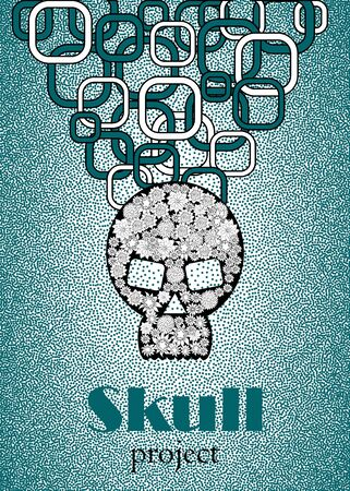 Skull in floral style your concept design. Illustration