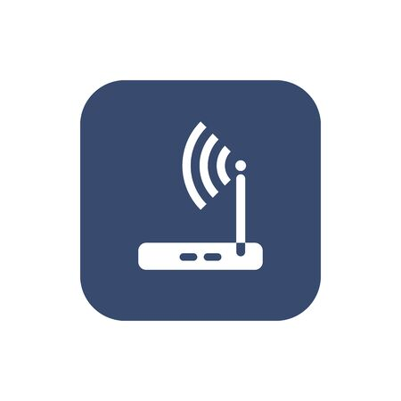 Wireless router icon wifi adsl ethernet modem hub . Illustration