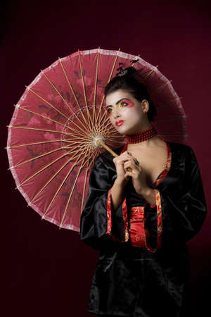 sexy geisha in studio photo