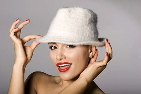 Mafia woman photo series. Studio shot Stock Photo - 11806001