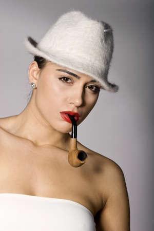 arrogancia: Mujer Mafia foto series. Tiro del estudio