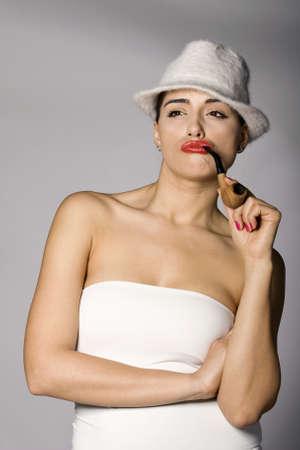 Mafia woman photo series. Studio shot photo