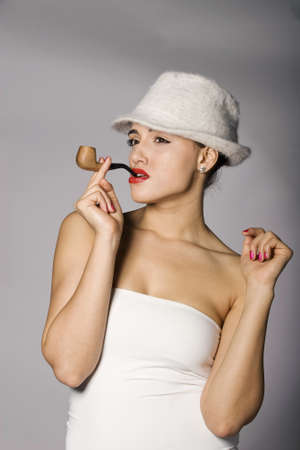 Mafia woman photo series. Studio shot Stock Photo - 11805922