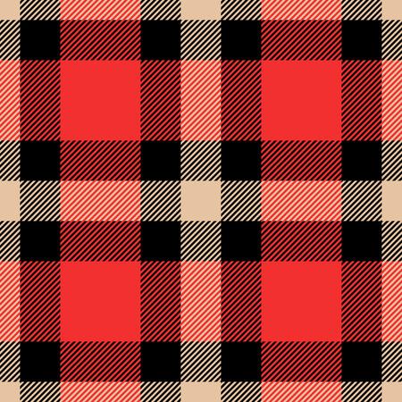 Le tartan classique et les motifs sans couture à carreaux de buffle vérifient. Vecteur eps 10