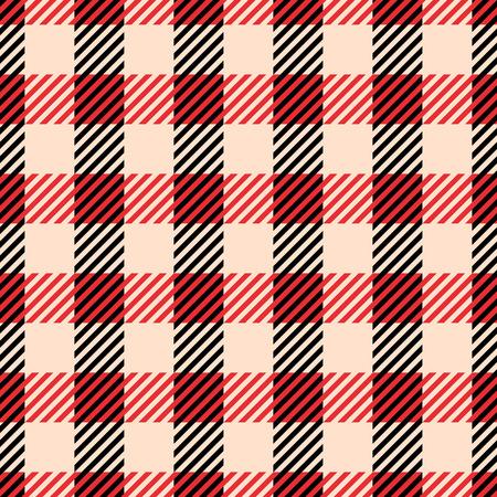 Classic tartan and buffalo check plaid seamless patterns. Vector eps 10 Standard-Bild - 112883010