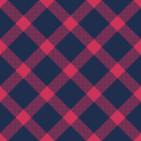 Classic tartan and buffalo check plaid seamless patterns. Vector eps 10