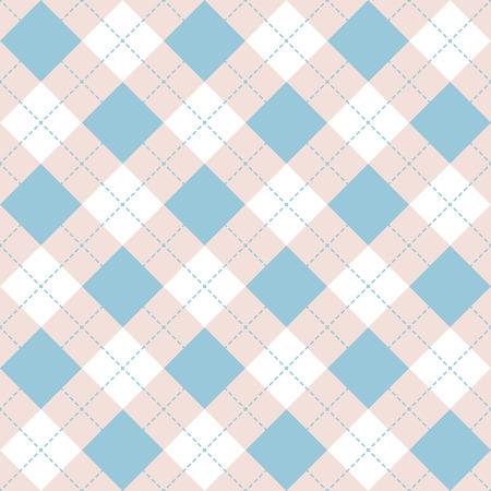 无缝菱形格子蓝图案。钻石检查-想法为您的打印。手绘
