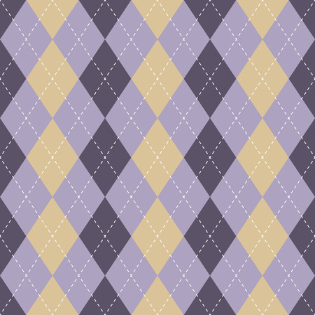 Seamless argyle plaid blue pattern. Diamond check - idea for your print. Hand draw Ilustração
