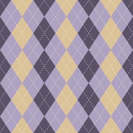 Seamless argyle plaid blue pattern. Diamond check - idea for your print. Hand draw Illustration