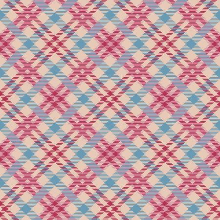 Classic tartan, Merry Christmas check plaid seamless patterns. Illustration