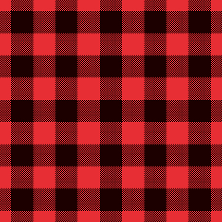 Classic tartan and buffalo check plaid seamless patterns. Vector eps 10