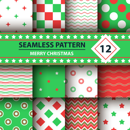 Color simple shape, Merry Christmas pattern.